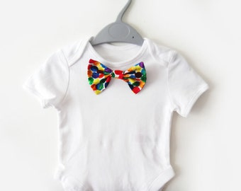 Baby Boy Clothing vest Bowtie onesie - The Very Hungry Caterpillar