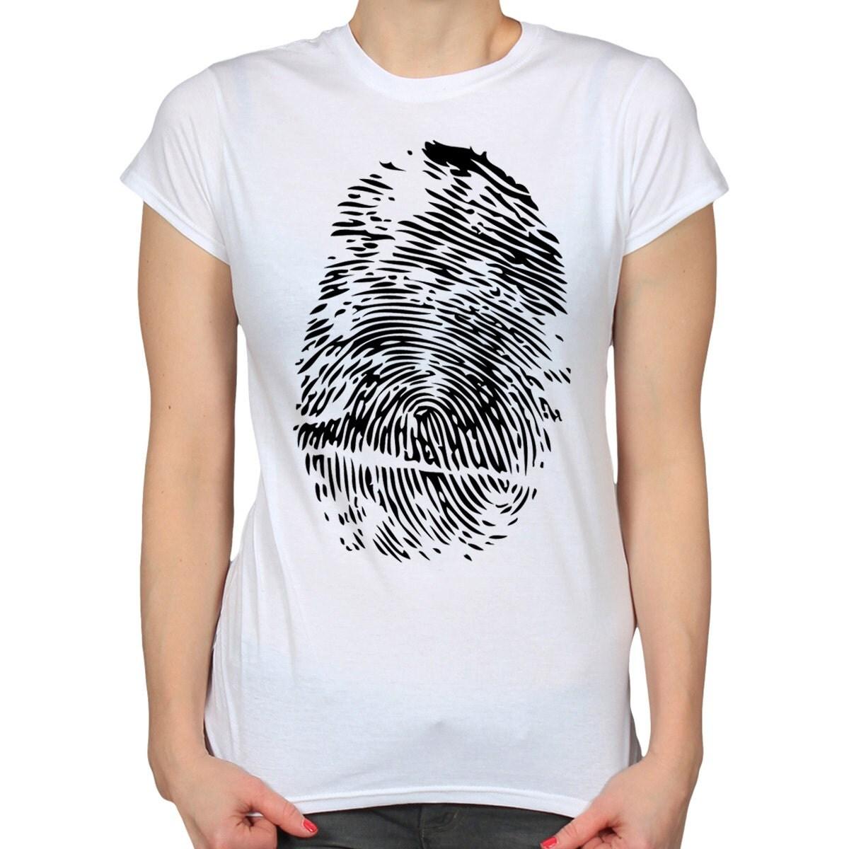 Fingerprint T Shirt Thumbprint Shirt Gift For Student