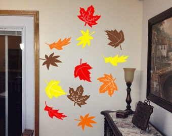 Popular items for fall leaf decor on etsy for Autumn leaf decoration