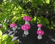 beautiful set of 5 cake toppers wonderful set for cake toppers fairy gardens and planters