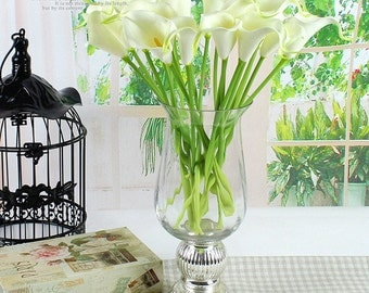 Hot-selling Handmade PU real touch mini calla Lily artificial flower home decoration desktop high quality  NO VASE 6 colors