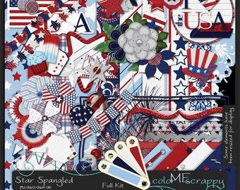 Star Spangled Digital Scrapbooking Kit
