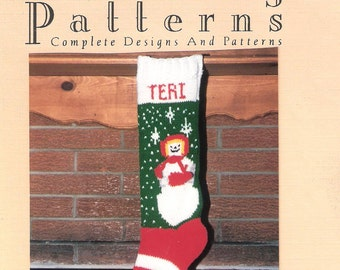 Christmas Stocking Pattern, Snow Girl
