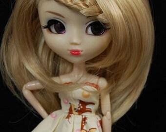Blonde Cute Braided Wig for Pullip Dolls 1/3 Head size
