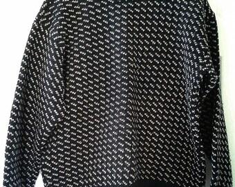 Vtg Navy LL Bean Sweater