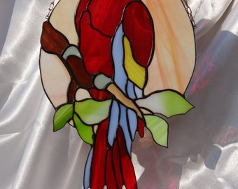 Parrot Tiffany Style Stained Glass  Suncatcher