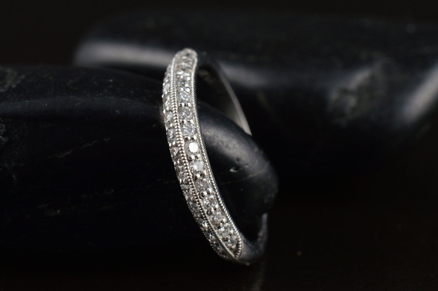 Lily Anne Diamond Wedding Band In White Gold Round