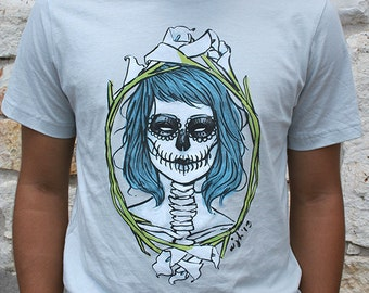 Day of the Dead Grey Unisex Graphic Tee