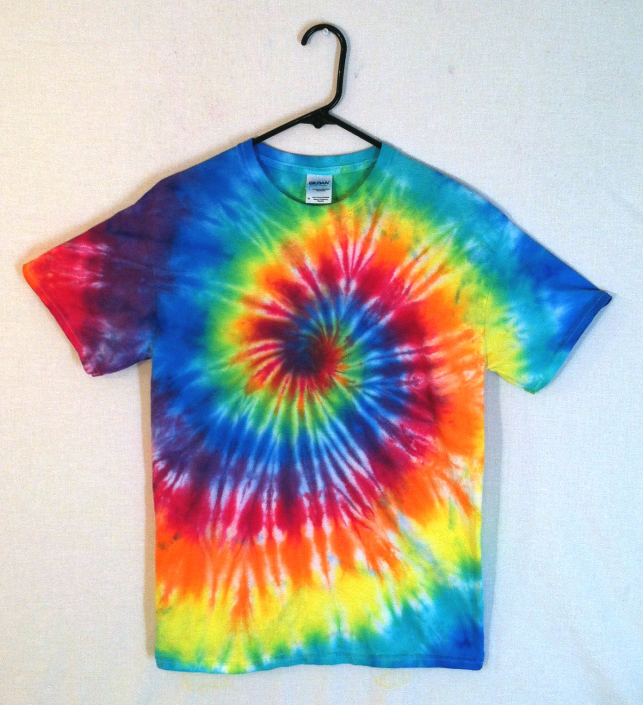 tie dye t shirt classic rainbow spiral by rainboweffectstiedye