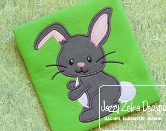 Rabbit Applique embroidery Design - Easter Applique Design - Bunny Applique Design - rabbit Applique Design