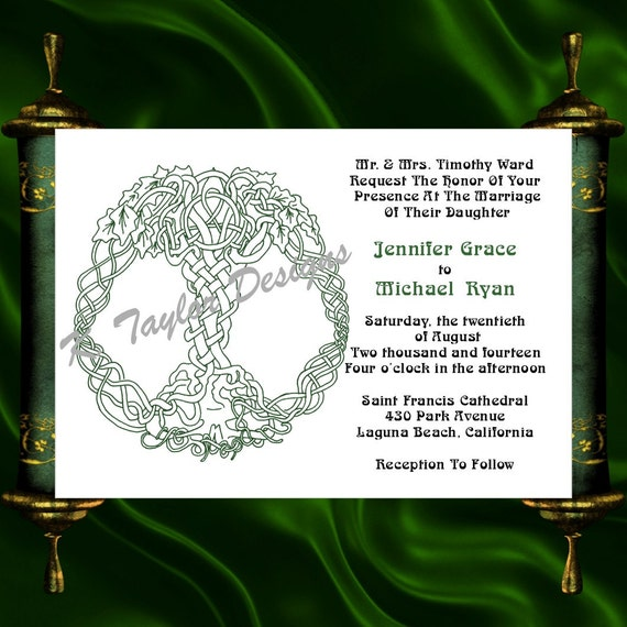 Life Of Lorin Our Wedding Tree: Tree Of Life Invitation & RSVP Celtic Life Tree Wedding