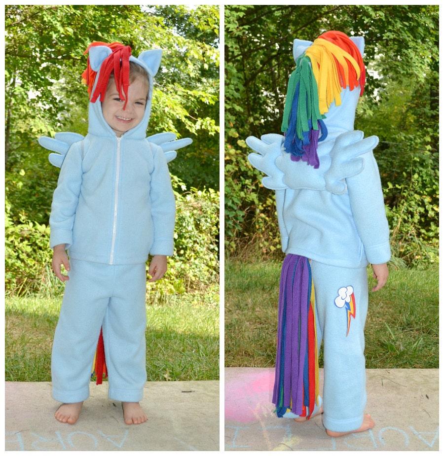 Pony Costume Ideas My Little Pony Rainbow Dash Pegasus Costume Custom Fleece 5