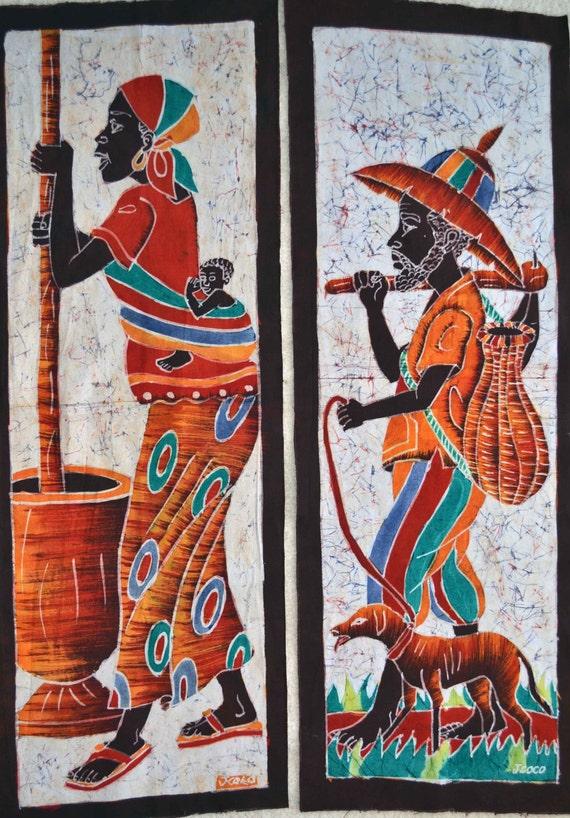 African Art African Batik African American Art Wax Print