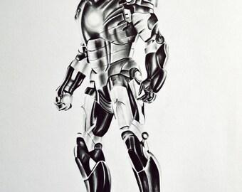 Ironman Graphite Pencil Drawing Print