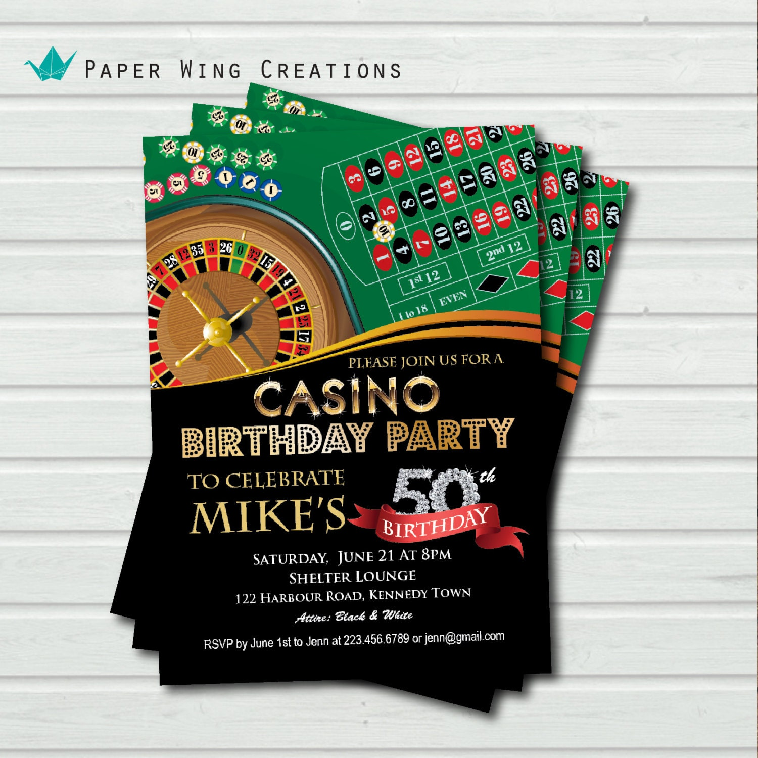 Casino birthday invitations barrona valley casino