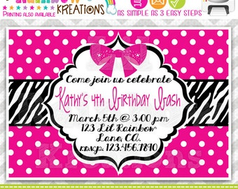 225: DIY - Diva Party Invitation Or Thank You Card