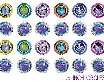 Littlest Pet Shop 1.5 Inch Party Circles - Cupcake Toppers - Stickers ...