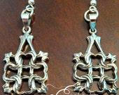 925 Sterling Silver Celtic Square Earrings