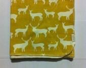 Organic Elk / Deer Receiving Blanket (sun)