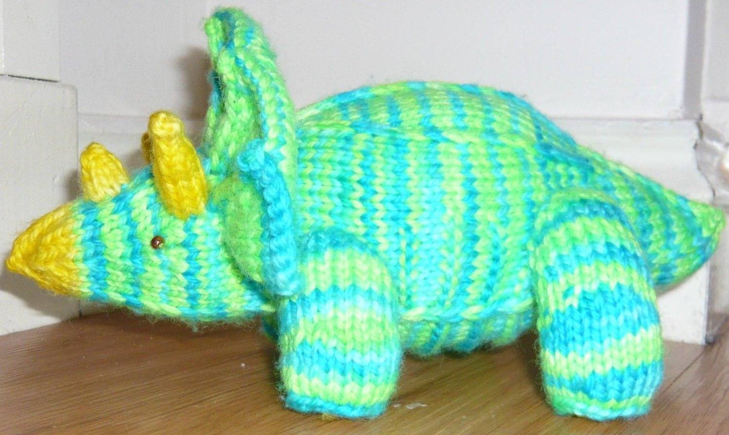 Triceratops Pattern pdf, create your own amigurumi knitted dino from MothyAnd...