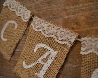 Customizable Burlap Wedding Banner, Burlap Banner, Wedding Banner, Photoprop