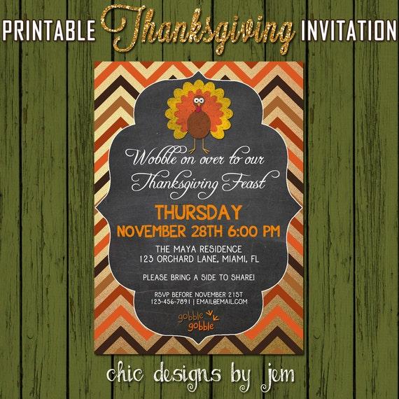 Thanksgiving Invitation - DIY Printable