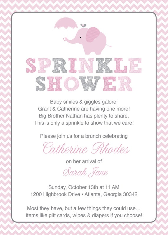 Baby Sprinkle Invitations Wording with nice invitations design