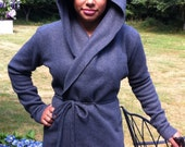 Hooded Fleece Yoga Wrap Jacket - Purchase Helps Cancer Patients