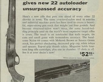 Remington Nylon 66 Rifle Magazine Ad 1960 Gun Vintage