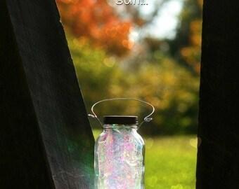 Solar Mason Jar - Fairy Lantern - Garden Decor - Outdoor Lighting - Fairy Decor - Solar Light - Mason Jar Light - Mason Jar Decor - Fairy