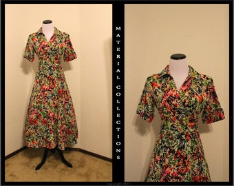 Vintage JG HOOK Abstract Dress • Material Collections