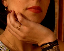 Black and gold wrap bracelet, Macrame bracelet, Boho Chic Bohemian Fashion Mediterranean Style Double Wrap