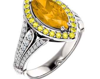 Make a Statement with Our Citrine Sunshine Ring