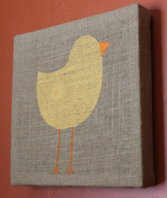 Rustic Decor Signs Burlap Sign Chick Easter Spring