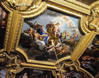 Paris Photography, Paris Photo, French Decor, Paris Decor, Verseille, Ceiling, Mural