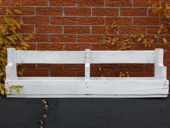 Items similar to white painted wood pallet shelf on etsy for White painted pallets