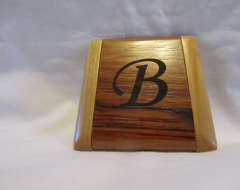 Wooden Personalized Folding Compact Mirror- Custom Engraved