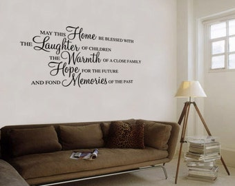 May This Home Be blessed Wall Decal Quote Sticker