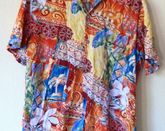 Tropical Short Sleeve Button Up