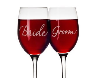 Wedding Decal - Bride and Groom - Etched glass Vinyl- Wedding Decal, Wedding Decoration, Reception Decal, Glass Decal