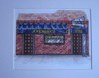 Frenchy's, by Karen Paciullo, 2014, Throggs Neck, Bronx, NY,  ready to frame art print