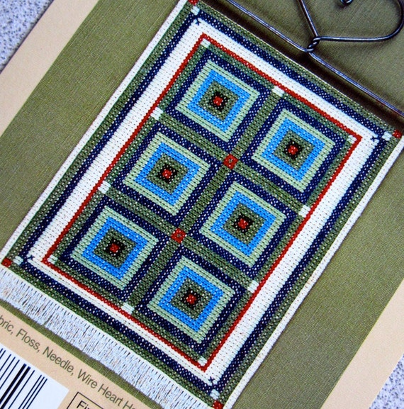 PATTERN: Kalidescope Amish Country Quilt Counted Cross Stitch