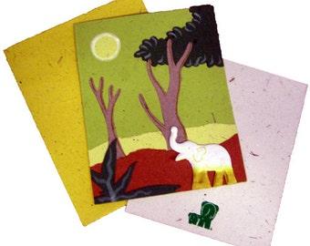 Single Greeting Card Light Green