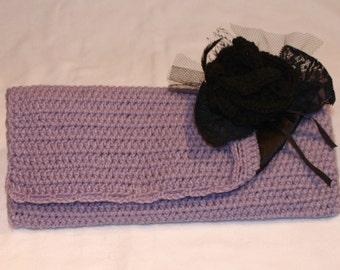 Crochet Envelope Style Clutch Bag