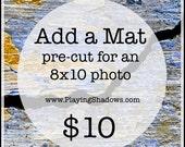 Mat Board - For 8x10 Photographs - Fits 11x14 Frames - White, White Core, decorative, accessory, add a mat, Crescent, 8x10 mat, archival mat