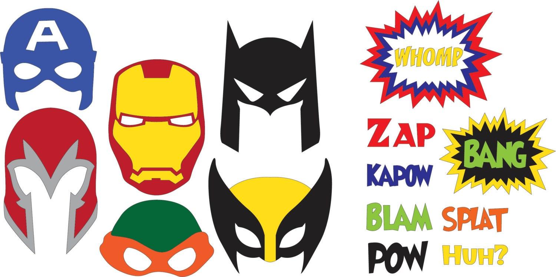 Superhero Masks SVG Files