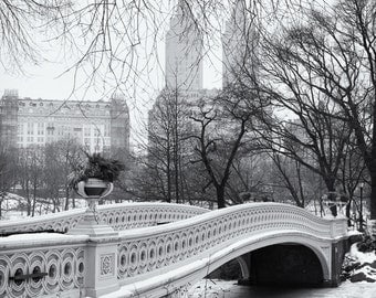 Bow Bridge, Central Park, Manhattan, New York City, New York, Black and White, Sepia - Travel Photography, Print, Wall Art