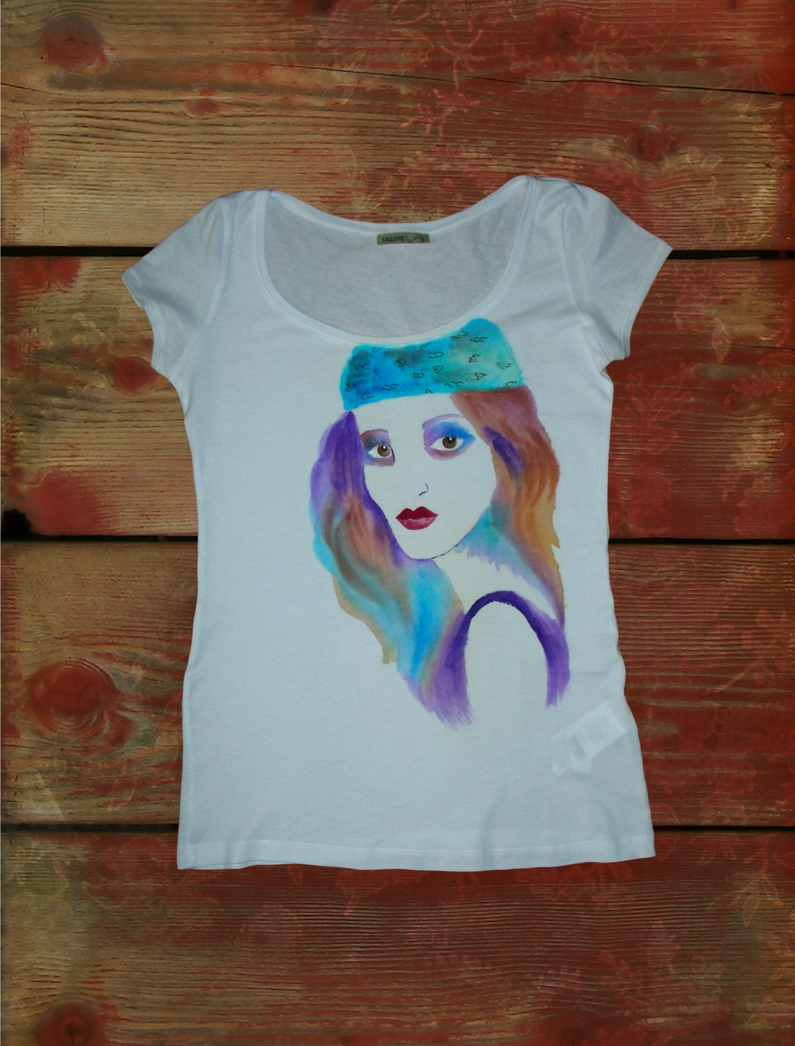 Hand painted t shirt fashion illustrator wearable for How to paint on t shirt