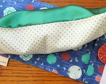 Cheerful Chinese Lantern Aromatherapy Eye pillow with Flax Seed