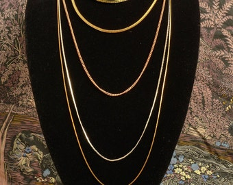 5 strand multi metal nestle necklace (N53)